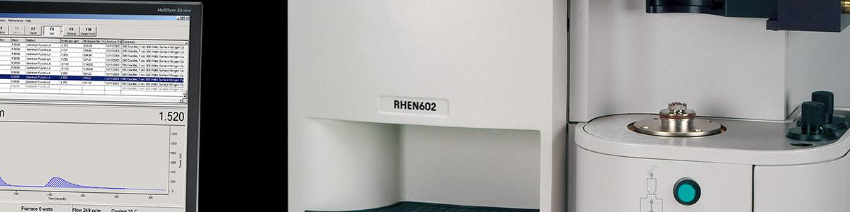 Fusão a gás inerte RHEN602 - LECO RHEN602 - Instrumentos Analíticos Científicos Inorgânicos - Determinação de hidrogênio por fusão a gás inerte -