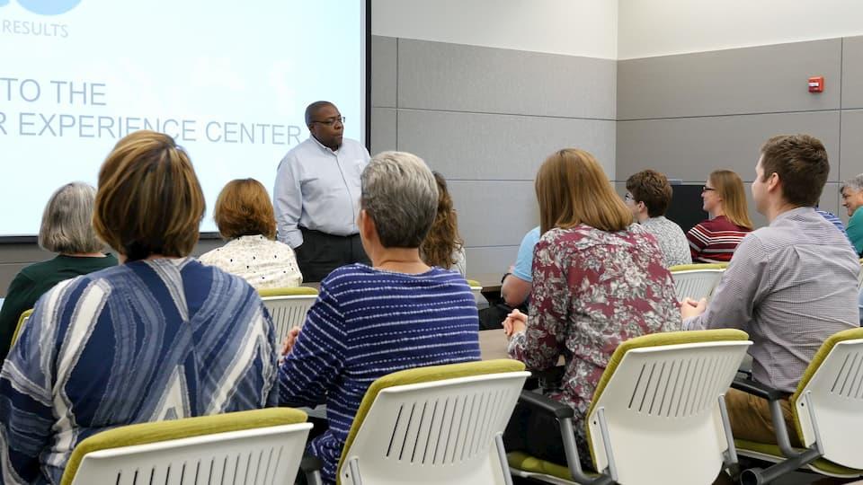 Farai Rukunda, LECO Separation Scientist, presenting