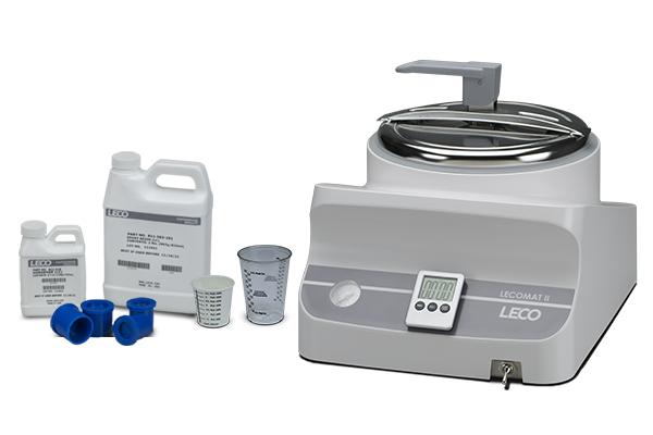 Embutidoras a frio - LECO Cold Mounting - Montagem de instrumentos analíticos científicos - Embutimento com Poliéster, Acrílico e Epóxi -