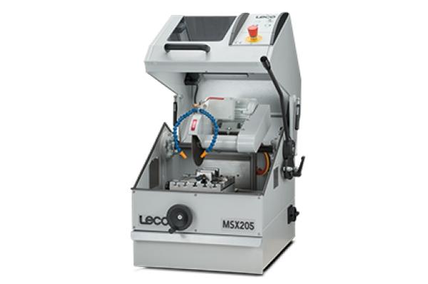 Cortadora MSX205 - LECO MSX205 - Instrumentos Analíticos Científicos Sec-Bench-Sort - Serra de bancada para dispositivos eletrônicos e fixadores -