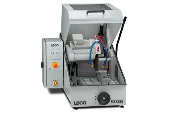 Cortadora MSX255 - LECO MSX255 - Instrumentos Analíticos Científicos Sec-Bench-Sort - Serra de corte de bancada para aplicação automotiva e cerâmica -