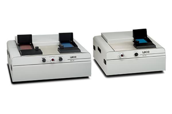 Lixadeiras da série BG - Série LECO BG - Instrumentos Analíticos Científicos Grind-Man-Sort - Lixadeira de correia para polimento de amostras metalográficas -